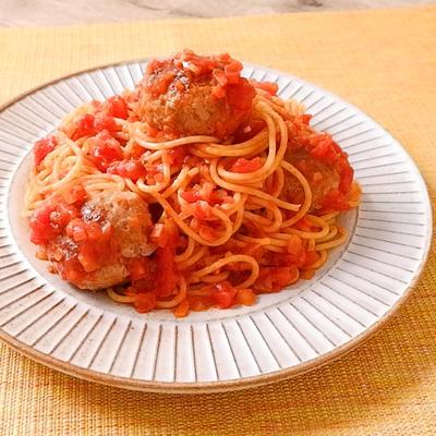 ミートボールのトマトスパゲティ