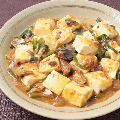 サバの味噌煮缶でピリ辛麻婆豆腐