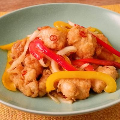 カボス香る 鶏胸肉の南蛮漬け