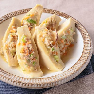 節約メニュー 高野豆腐の具沢山はさみ煮