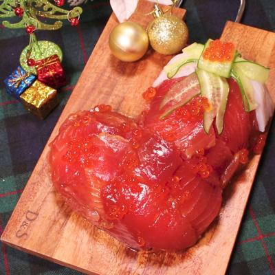 クリスマスに!寿司ブーツケーキ
