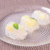 製氷皿で簡単 もも寒天