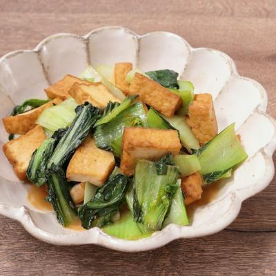 チンゲン菜と厚揚げの炒め物
