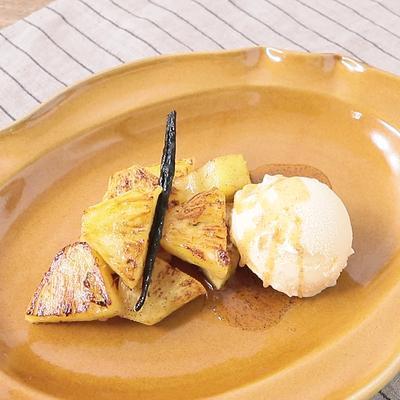 バニラ香る 焼きパイナップル