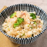鮭とブロッコリーの炊き込みご飯