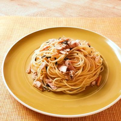 お茶漬けツナスパゲティ