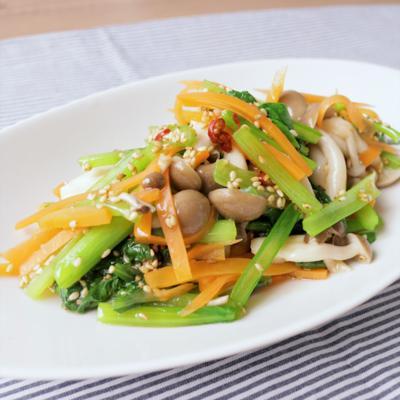 小松菜を美味しく食べる 三色ナムル