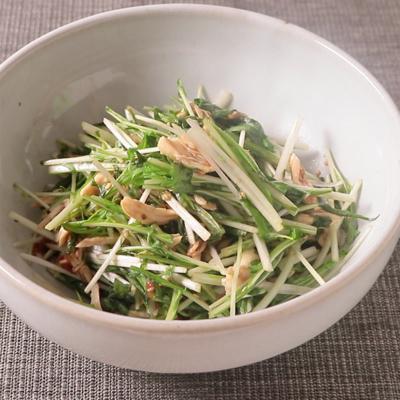 さっぱり 水菜とささみの梅サラダ