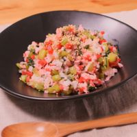 野沢菜とカリカリ梅のチャーハン