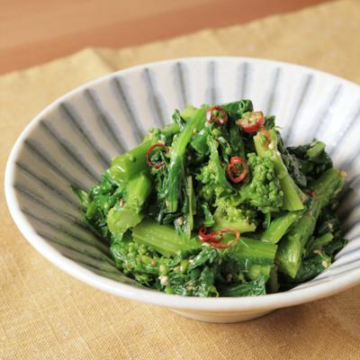 簡単止まらない美味しさ 菜の花ナムル