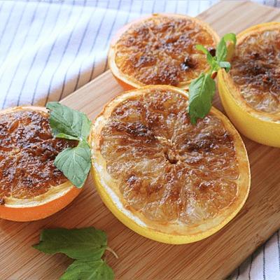 グレープフルーツとオレンジのカルダモン香る焼きフルーツ