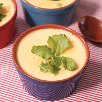 プチプチ たらこと枝豆の豆乳茶碗蒸し