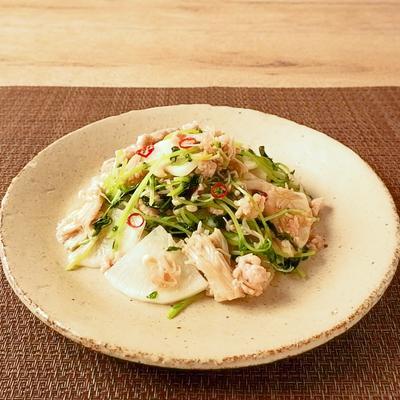 味付け簡単!大根と鶏挽きの中華炒め