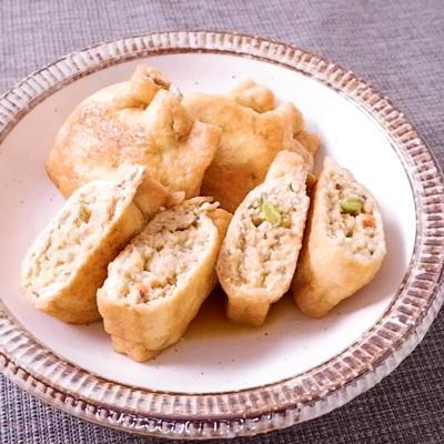 卯の花リメイク 鶏ひき肉の巾着煮