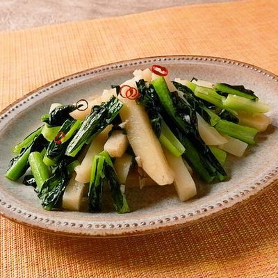 小松菜とじゃがいものペペロン風炒め