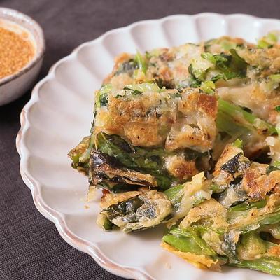 小松菜とツナのチヂミ