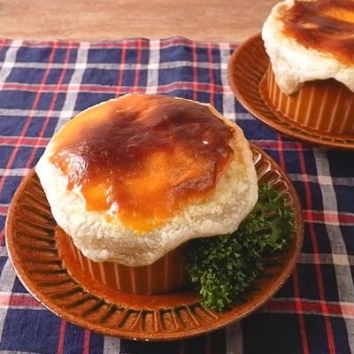 ほくほく手作りのかぼちゃシチューポットパイ