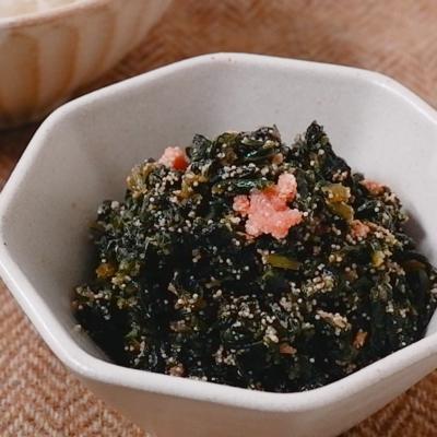 ふきの葉と明太子の佃煮