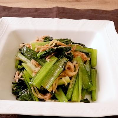 中華風 小松菜と切り干し大根のツナ炒め