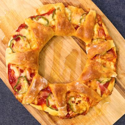 HMとヨーグルトで生地作り!リングピザ