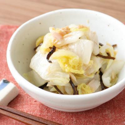 塩昆布であっさり 無限白菜