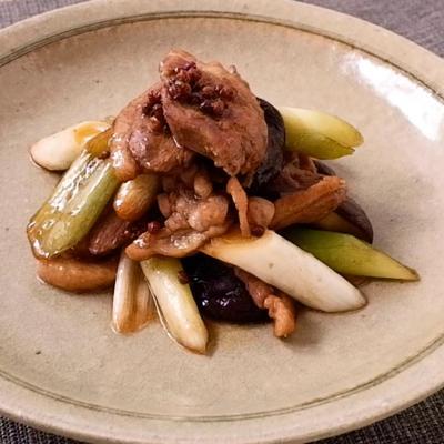 鴨肉と長ねぎの甘辛花椒焼き