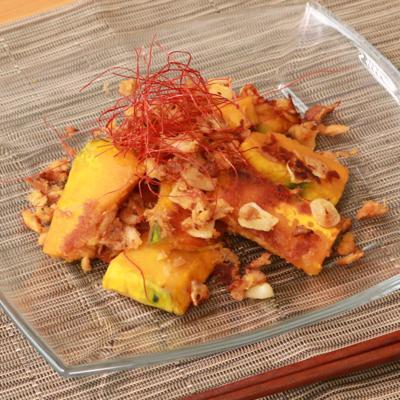 ほくほくかぼちゃのツナガーリック炒め