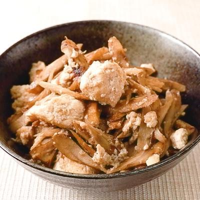 簡単おいしい ごぼう炒り豆腐