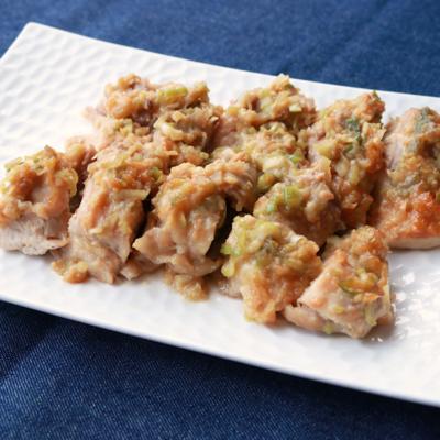 鶏肉のオーブンねぎ味噌焼き