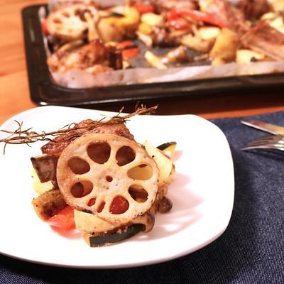 がっつりスペアリブといろいろ野菜のぎゅうぎゅう焼き