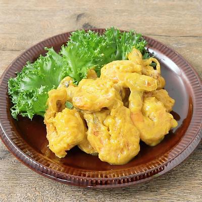 カレー風味のクリーミー海老マヨネーズ