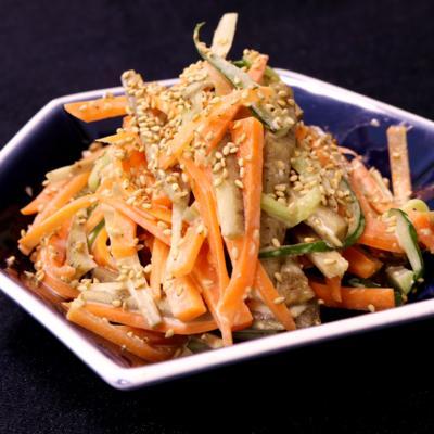 電子レンジで簡単調理!ごぼうサラダ
