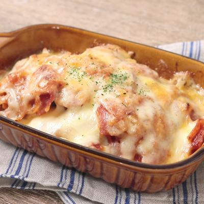 トマト風味簡単豆腐グラタン
