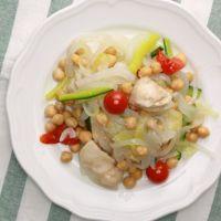 鶏むね肉とひよこ豆のマリネ