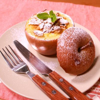 りんご丸ごと!半熟チーズケーキ
