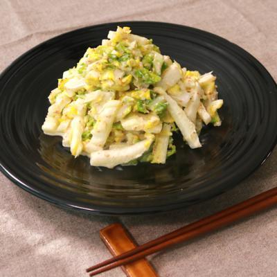 白菜はサラダでもおいしい!ごまマヨのコールスロー風