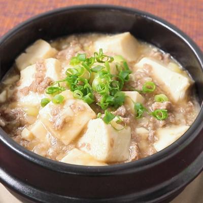 いつもの調味料で とろうま麻婆豆腐風