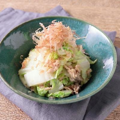 白菜とツナのゆずポン酢和え