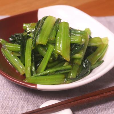 小松菜の山椒風味和え