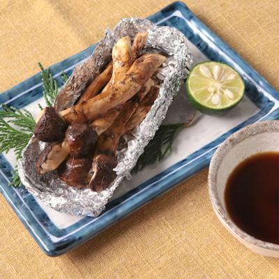 フライパンで 松茸のホイル焼き
