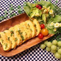 チーズた〜っぷりの卵焼き型オムレツ