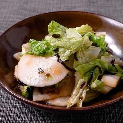 大根と白菜の塩昆布漬け
