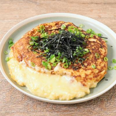チーズ入り ふわふわ長芋のステーキ