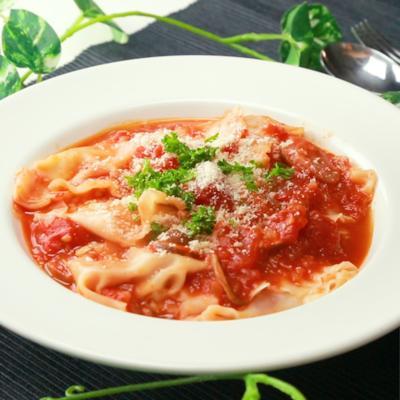 餃子の皮でラビオリ風トマト煮