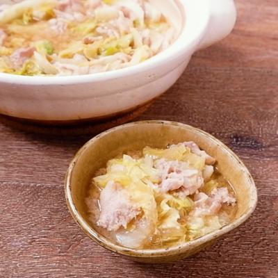 豚肉と白菜の味噌鍋
