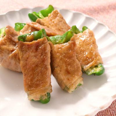 テリヤキ風 ピーマンとチーズの肉巻き