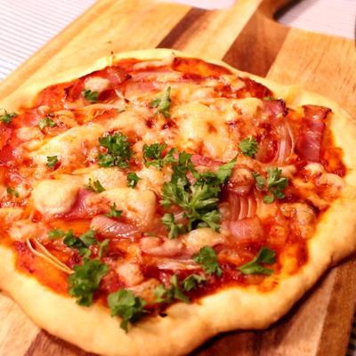 発酵なし簡単ピザ