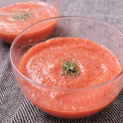 トマト丸ごと ひんやりスープ