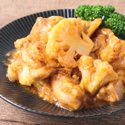 鶏肉とカリフラワーのチリソース