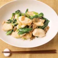 鶏むね肉と小松菜の中華風ザーサイ炒め